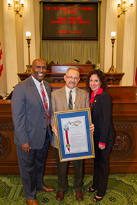 Assemblymember Jim Cooper, BOE Chief of Investigations Randy Silva, and Susan Gorsuch